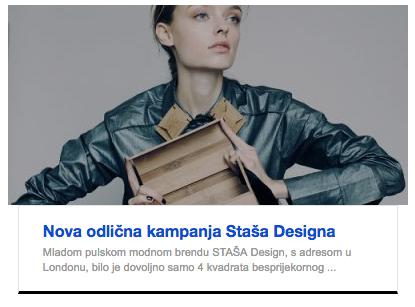 Nova odlična kampanja Staša Designa